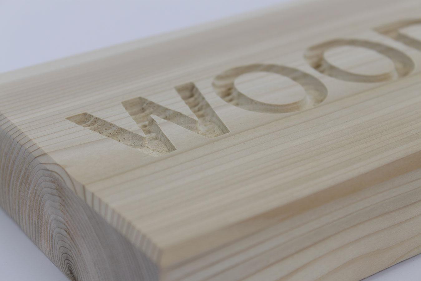 Wood Negative Sandblast