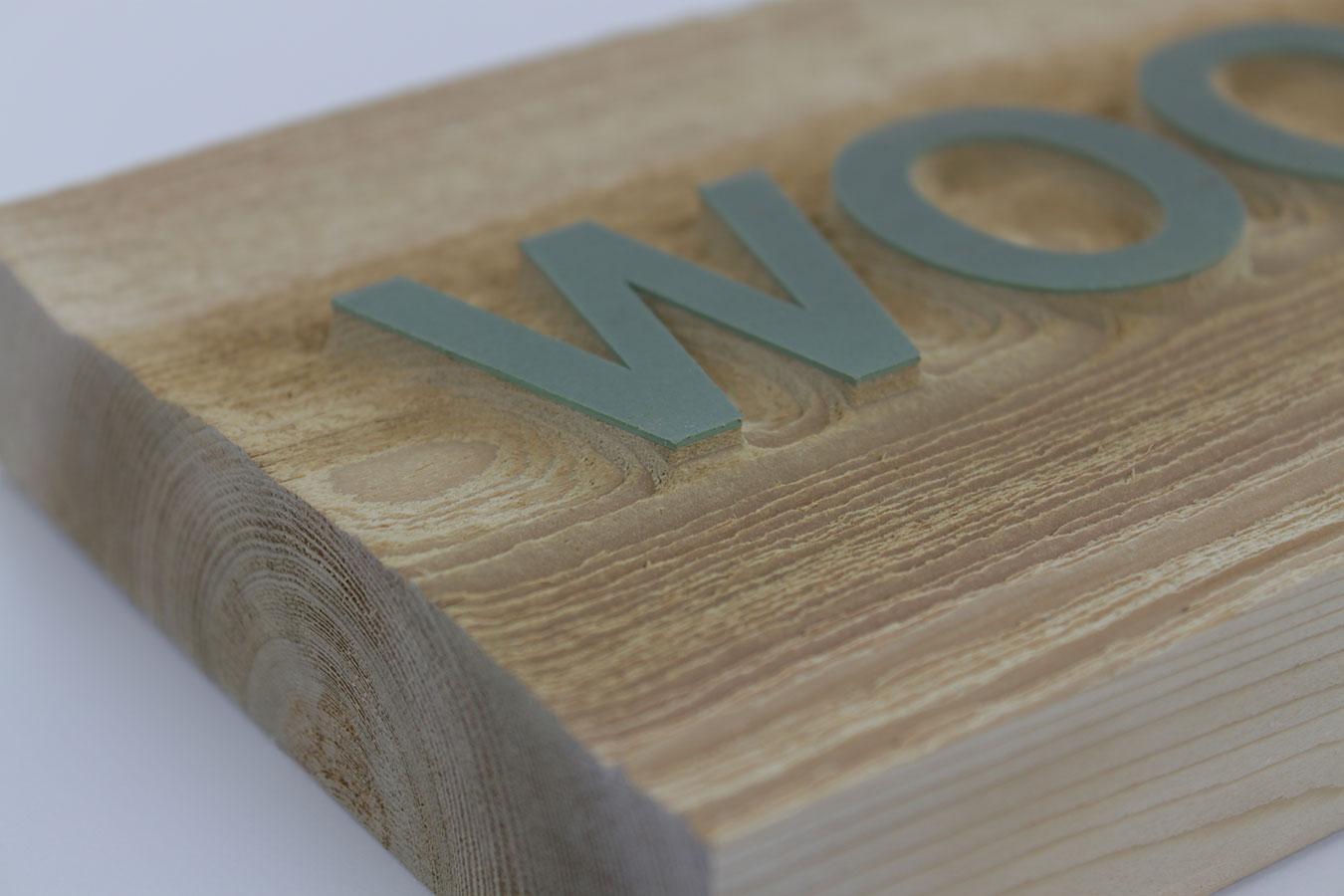 Wood Positive Sandblast